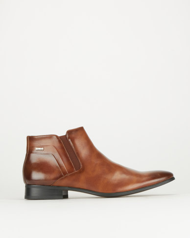 Gino Paoli Aniline Slip On Boots Tan