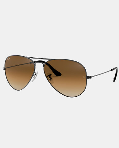 Ray-Ban Aviator Gradient Sunglasses  Gunmetal