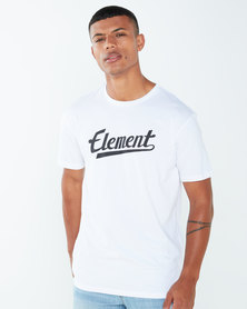 Element Script Ss Tee White