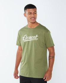 Element Script Ss Tee Green