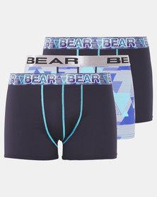Bear 2Pk Triangle Bodyshorts Navy