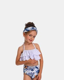 Iconix Daughter Swimsuit - Blue & White Floral Coconut