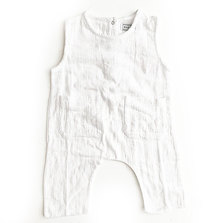 Your Baby Star Sleeve-Less Unisex White Romper