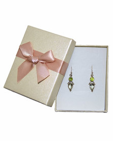 Fino 925 Sterling Silver Earrings- Faceted Lemon Quartz and Peridot