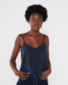 All About Eve Georgia Washed Cami Navy