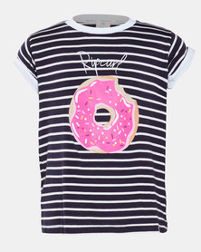 Rip Curl Teen Girls Stripe Donut Tee Multi