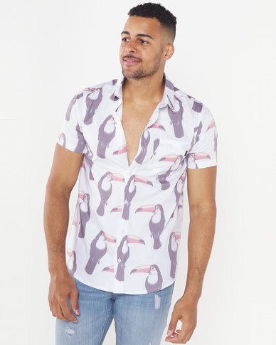 Rip Curl Toucan S/Sleeve Shirt White