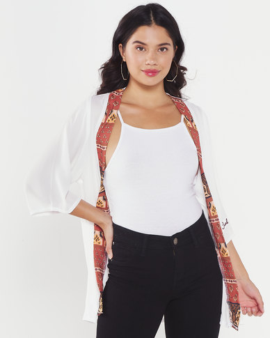 Rip Curl Flow Print Cover Up White