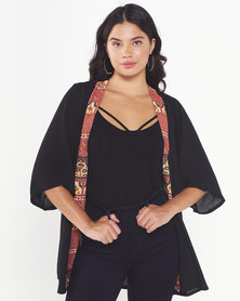 Rip Curl Flow Print Cover Up Black