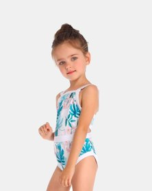 Iconix Daughter One piece Swimsuit - Blue Fern Printed