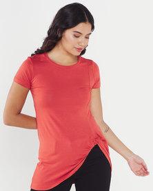 Utopia Knot Knit Tunic Orange