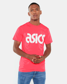 ASICSTIGER AHQ At Graphic Short Sleeve Tee Red