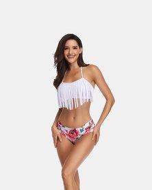 Iconix Rose Fringe Mother Swimsuit