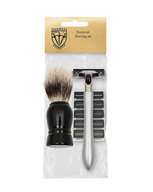 Kellermann 3 Swords Shaving Set with Shaving brush, Razor & Spare Blades