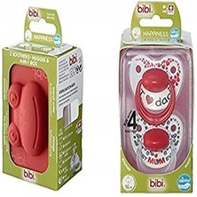 Bibi I love Mama,I love Pappa Twin pack soothers