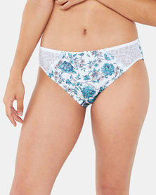 Playtex Digital Print Forever Lace 2 Pack Hi-Cut Panty Ivy & Misty Rose/Oyster