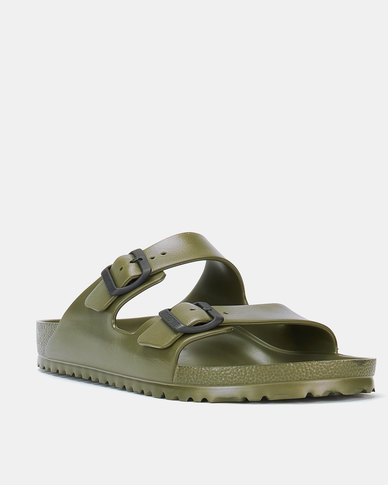 Birkenstock Arizona Eva Double Strap Slide Khaki