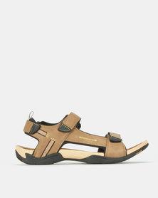 Jeep Open Adventure Sandals Tan