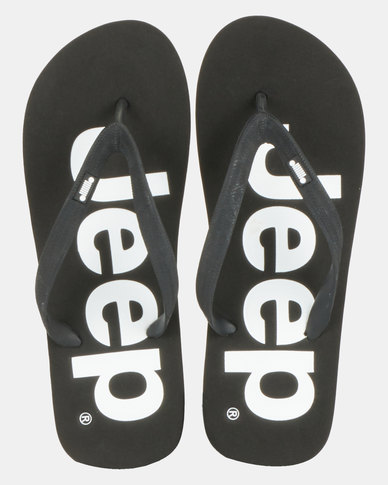 Jeep Printed Flip Flop Black/White