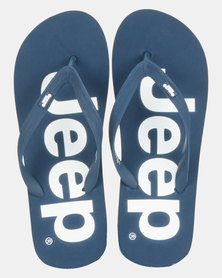 Jeep Printed Flip Flop Navy/White