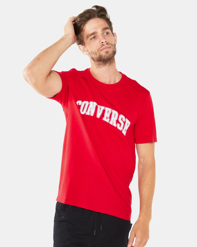 Converse Collegiate Text SS Tee Red