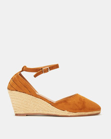 Utopia MaryJane Espadrille Wedge Tan