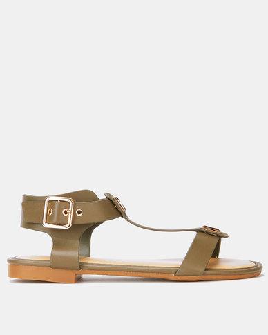 Utopia Gladiator with Studs Sandal Olive