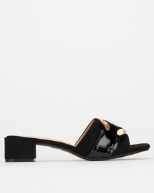 Utopia Buckle Mule Black