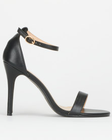 Utopia Barely There Heels Black