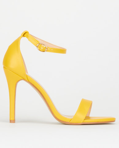 Utopia Barely There Heels Yellow