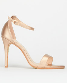 Utopia Barely There Heels Rose Gold