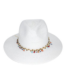 360Five Emily Fedora Sunhat White