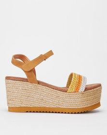 Utopia Multi Woven Wedges Brown