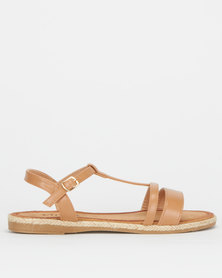 Utopia Ankle Strap Sandals Tan