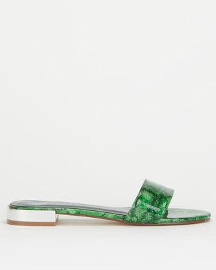 Utopia Snake Slip On Sandals Green