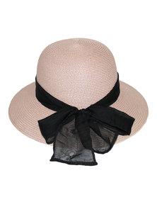 360Five Blanchett Cloche Sunhat Pink/Black