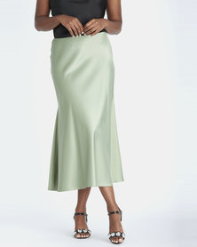Contempo Bias Cut Skirt Sage
