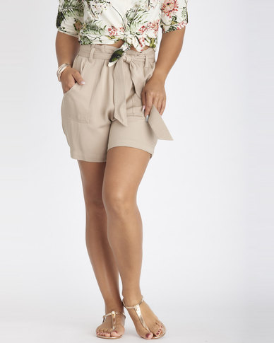 Contempo Belted Soft Pants Stone