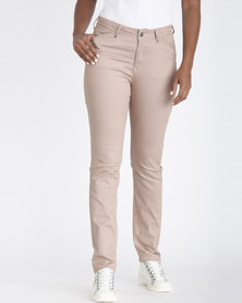 Contempo Fashion Trousers Taupe