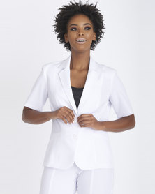 Contempo Panel Styled Jacket White