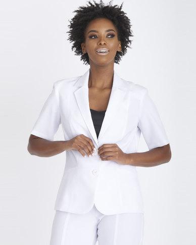 Contempo Panel Styled Jacket White