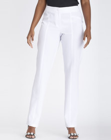 Contempo Panel Styled Pants White