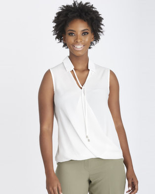 Contempo Wrap Top Collar & Toggles Ivory