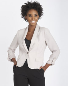 Contempo Jacket With Turn-Up Sleeves Natural
