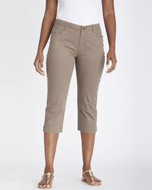Contempo 5 Pocket Twill Capri Taupe