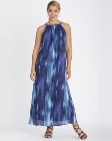 Contempo Ombre Dress Navy