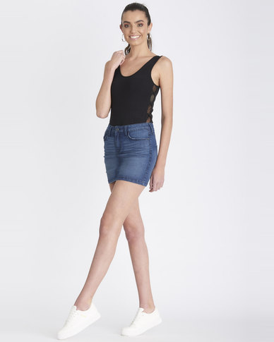 Contempo Generation Denim Mini Skirt Blue