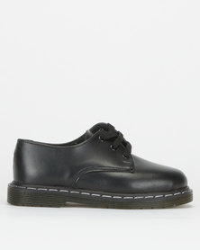 Toughees Boys Humpty Leather School Shoes Black