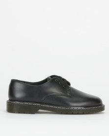 Toughees Boys Humpty Leather School Shoes Black