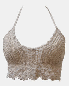 SKA Crochet Bra Top Natural